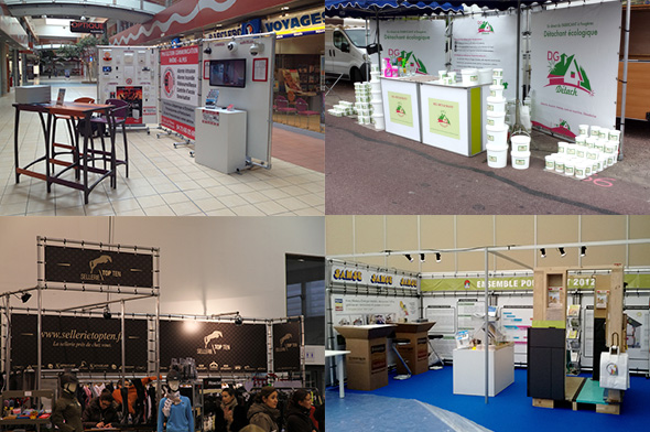 Stand salon stand d 39 exposition en b che tendue for Salon exposition