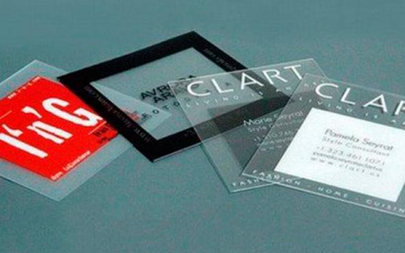 Cartes De Visite Transparente