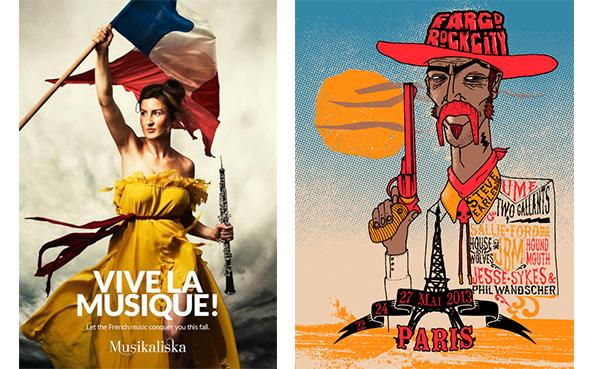 affiches publicitaires festivals