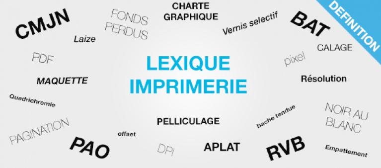 lexique imprimerie