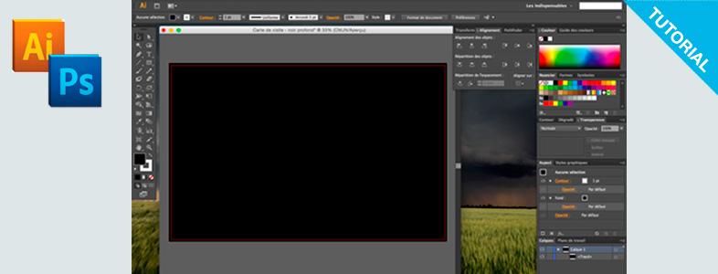 Noir intense et profond sous Photoshop et Illustrator.