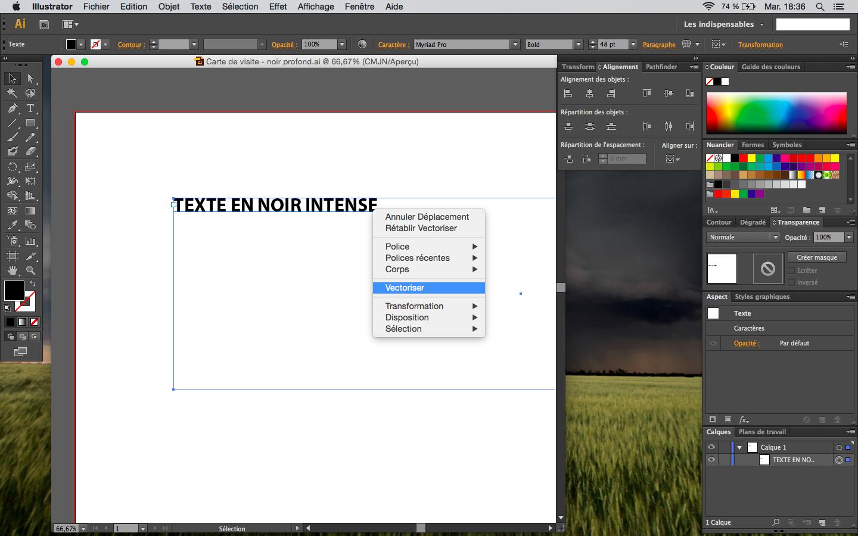 vectoriser son texte sous Illustrator