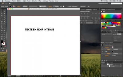 vectoriser son texte sous illustrator