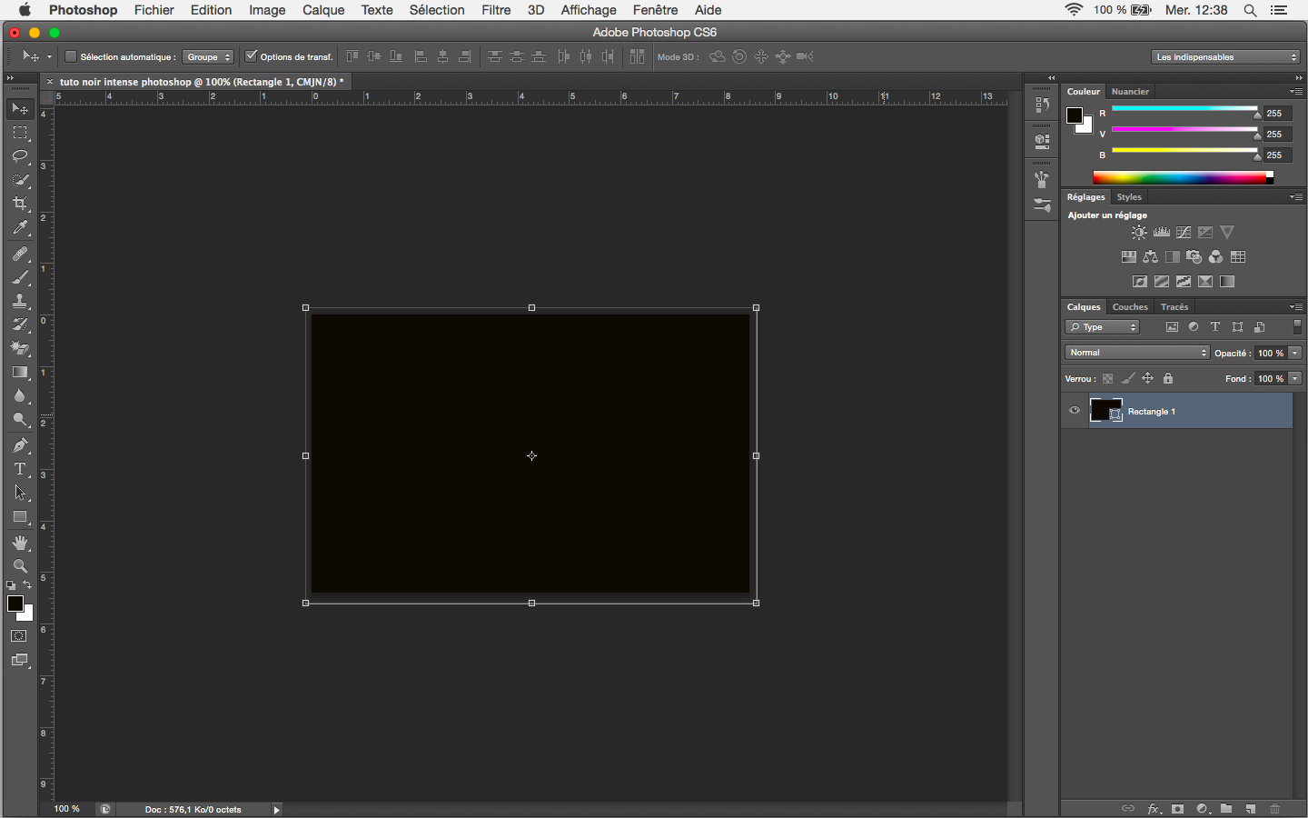 tutoriel photoshop creer un noir intense