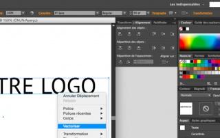 comment vectoriser un texte sous Illustrator