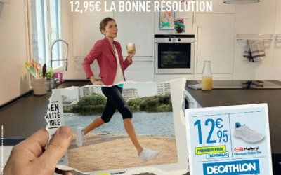 affiches publicitaires décathlon