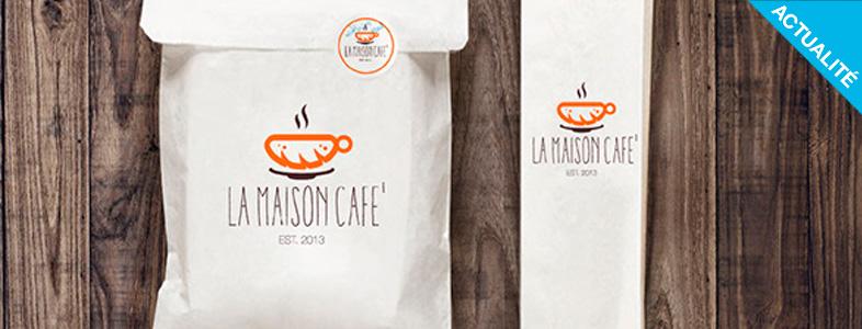 Inspiration identite graphique de la Maison café