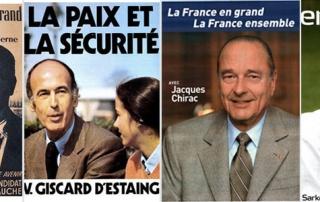 L'analyse des affiches presidentielles sous la Ve republique