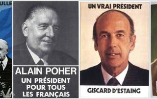 les affiches presidentielles sous la Ve republique
