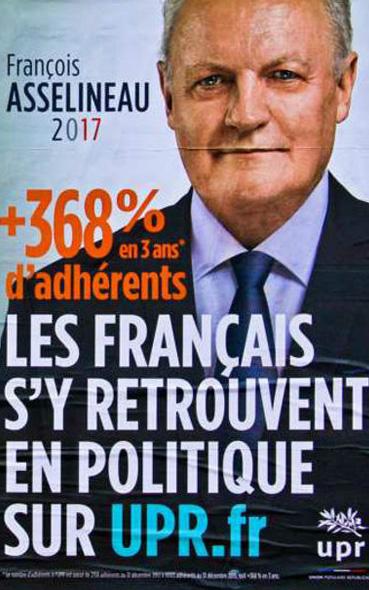 L' affiche présidentielle 2012 de François Asselineau
