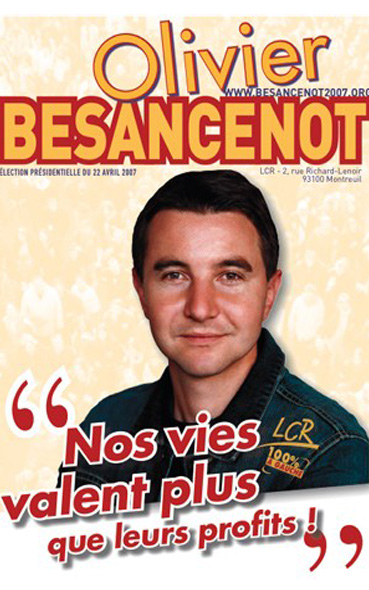 L'affiche présidentielle de Olivier Besancenot