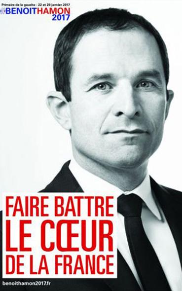 L' affiche présidentielle de Benoit Hamon