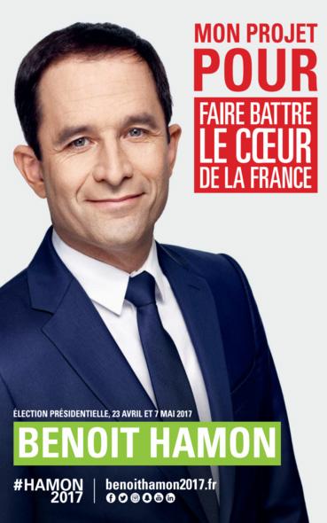Les affiches présidentielles de Benoit Hamon