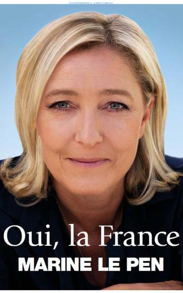 L' affiche présidentielle de Marine Le Pen