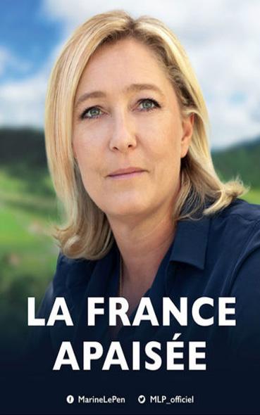 Les affiches présidentielles de Marine Le Pen