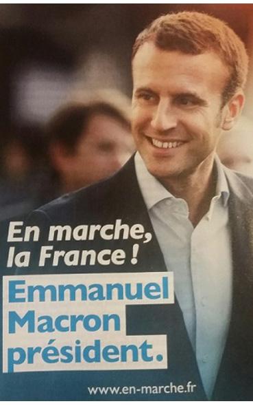 L' affiche présidentielle d'Emmanuel Macron