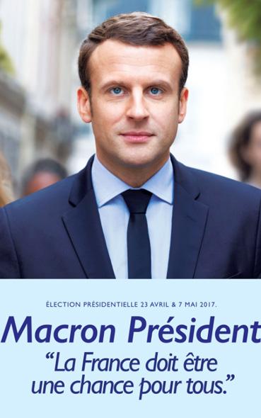 Les affiches présidentielles d'Emmanuel Macron