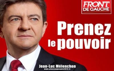 L' affiche présidentielle de Jean-Luc Mélenchon