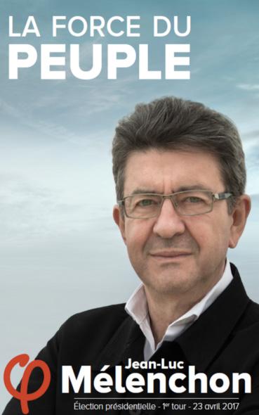 Les affiches présidentielles de Jean-Luc Mélenchon