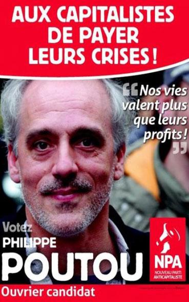 L'affiche présidentielle de Philippe Poutou de 2012