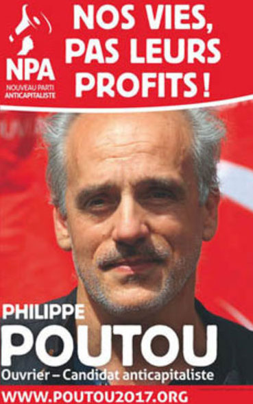 L'affiche présidentielle de Philippe Poutou de 2017
