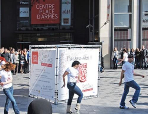 EVENEMENTIEL : Structures d'exposition en cube en bâche tendue