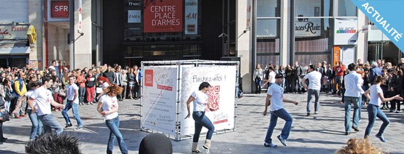 Structures d'exposition - cube évènementiel en bache tendue