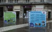 Cube en bache tendue - Campagne de prévention de l'eau de Grenoble