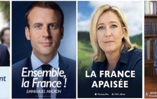L'analyse des affiches des finalistes à la présidentielle 2017