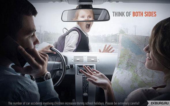 affiches publicitaires de sécurité routière