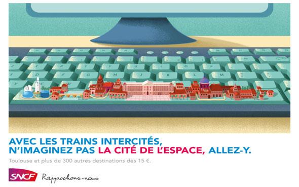 affiches publicitaires sncf des trains intercités