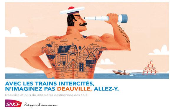 affiches sncf des trains intercités