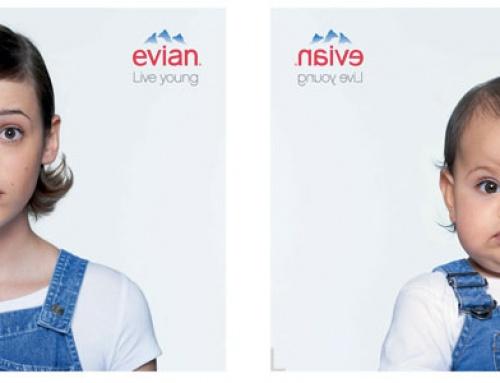 INSPIRATION : Les Affiches publicitaires Evian de la campagne Live Young !