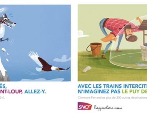 INSPIRATION : 20 affiches publicitaires sncf des trains intercités à découvrir !