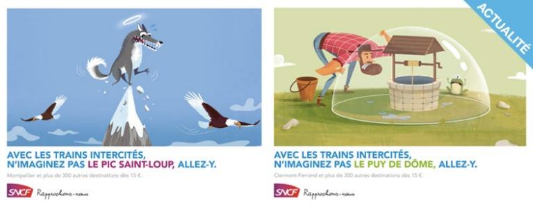 20 affiches sncf sur les trains intercités à découvrir !