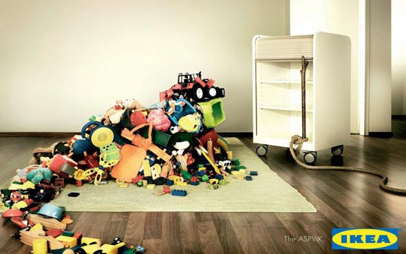 affiches publicitaires de la marque ikea