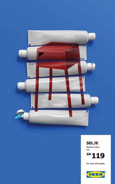 affiches publicitaires ikea