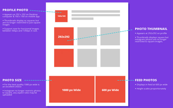 INSTAGRAM : la taille idéale des images pour publier sur les réseaux sociaux