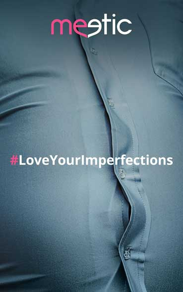 Affiches publicitaires Meetic - Campagne Love your imperfections