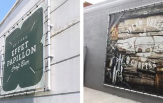 12 enseignes murales en bâche tendue pour s'afficher correctement !