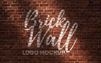 10 mockups de logos gratuits à télécharger - Logo sur mur de brique