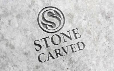 10 mockups de logos gratuits à télécharger - Logo gravé dans la roche