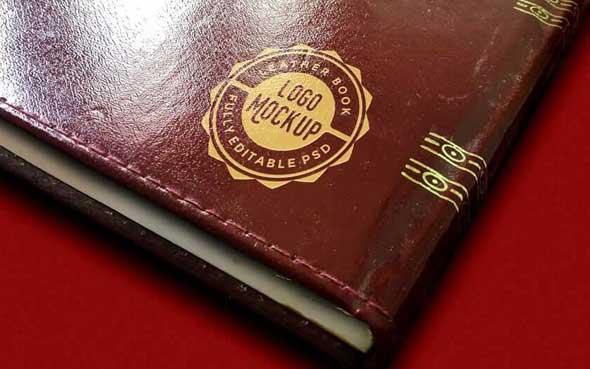10 mockups de logos gratuits à télécharger - Logo sur livre vintage