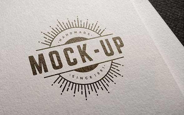 10 mockups de logos gratuits à télécharger - Pack logos sur papier