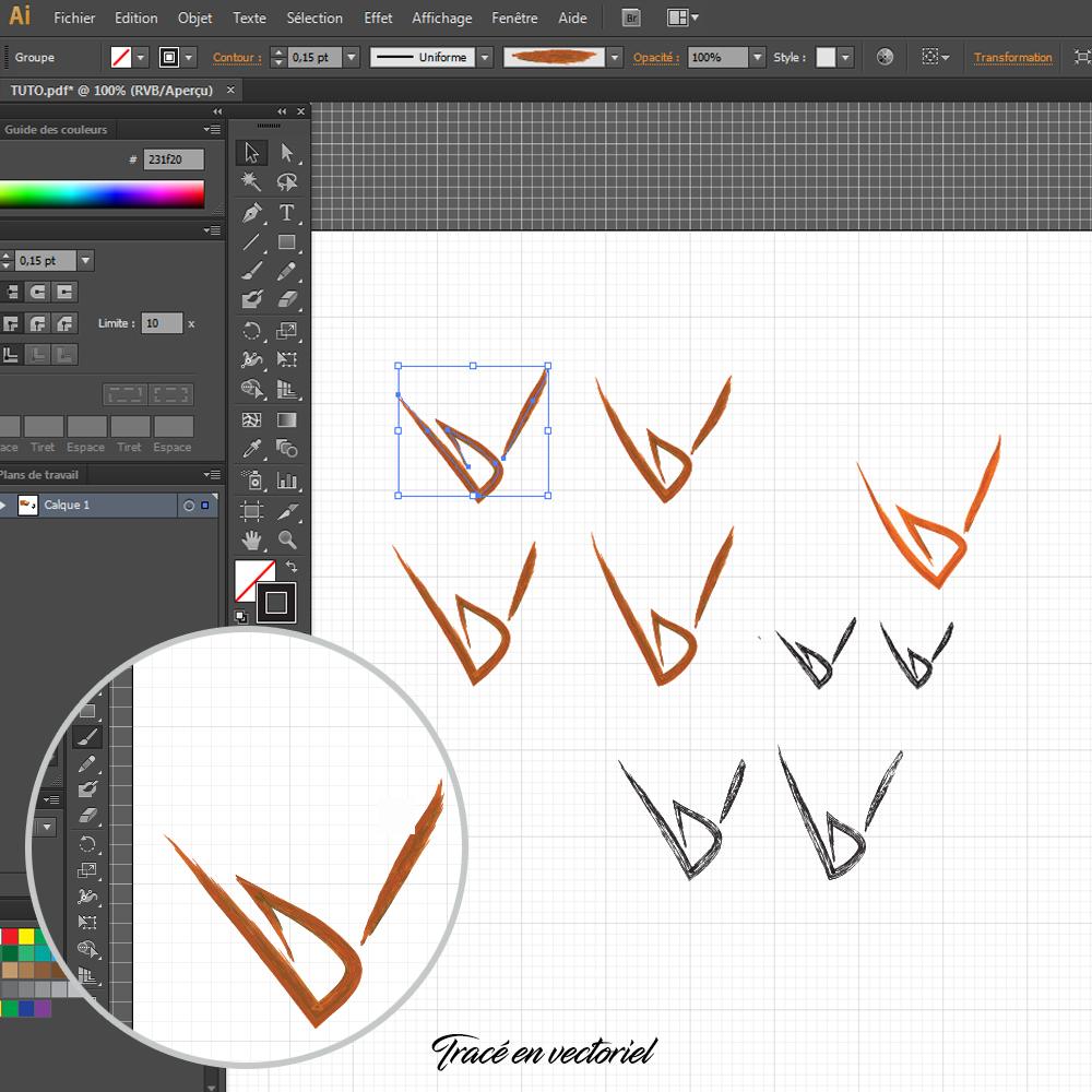 Comment créer un logo sous illustrator : l'étape du tracé vectoriel !