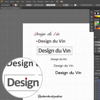 Comment créer un logo sous illustrator : l'étape de la police d'ecriture !