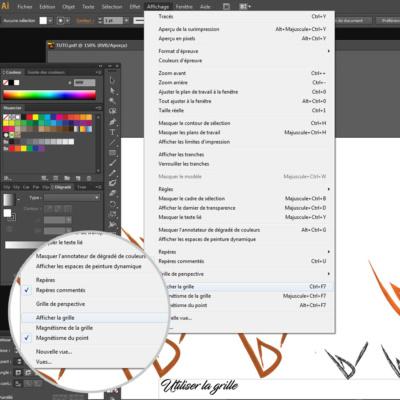 Comment créer un logo sous illustrator : utiliser la grille.