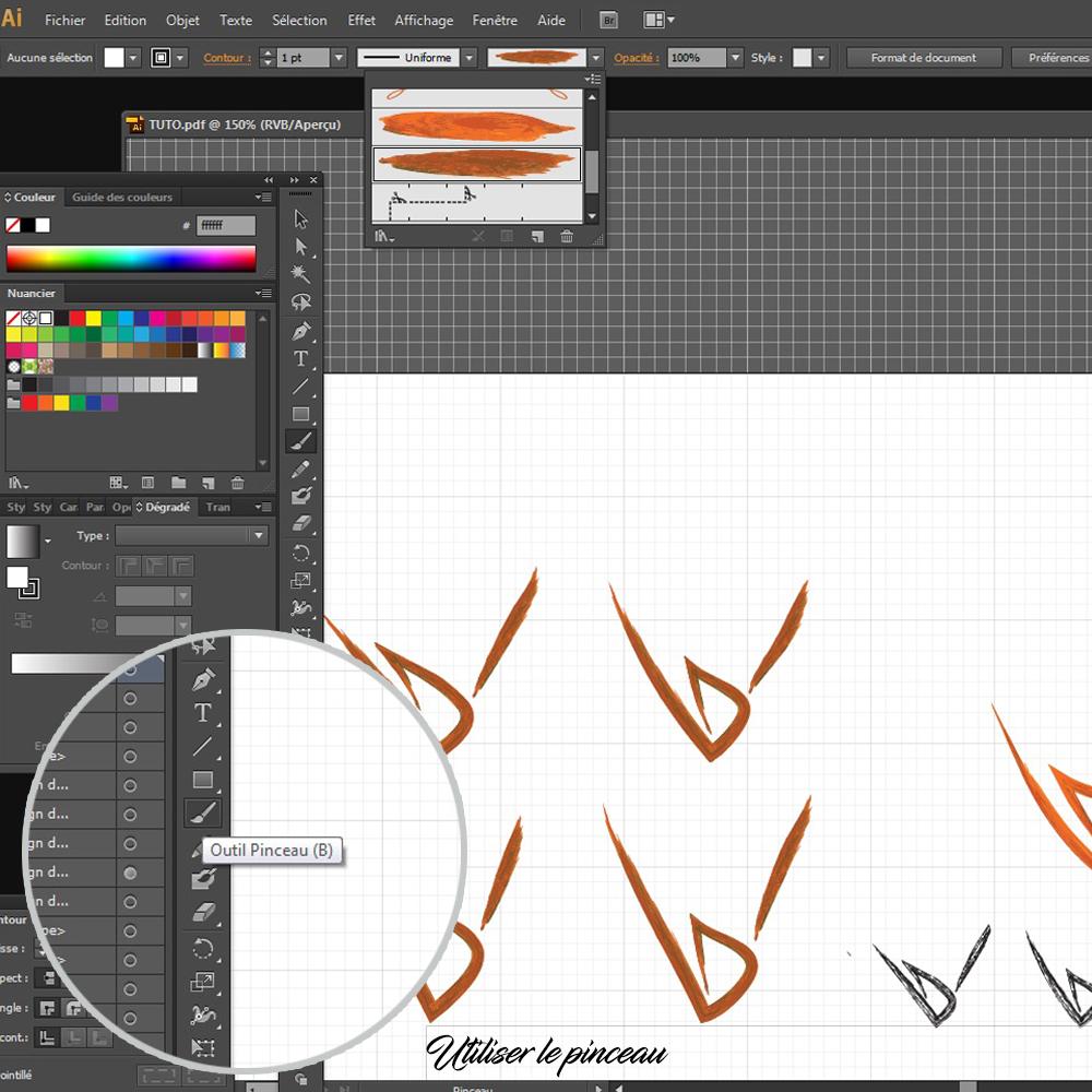 Comment créer un logo sous illustrator : utiliser le pinceau !