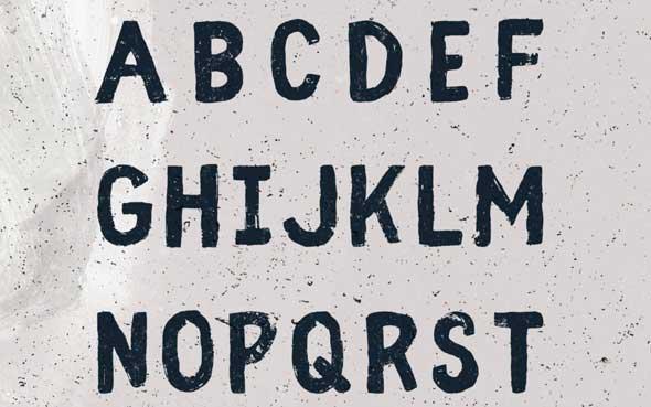 10 typographies gratuites à découvrir et à télécharger - Typographie Fibre au style vintage de Wild type