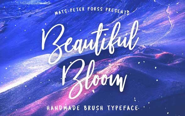 10 typographies gratuites à découvrir et à télécharger - Typo Beautiful Bloom réalisée par Mats-Peter Forss